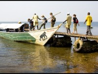 Boat from Ngamba