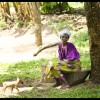 Ugandan Woman with Puppy