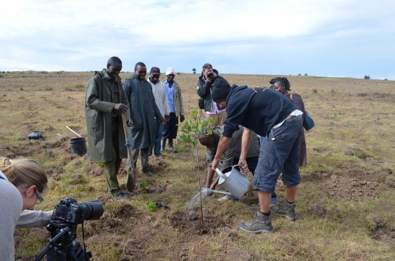 Tree-planting with the Green Belt Movement at Gikamba Kabendera.